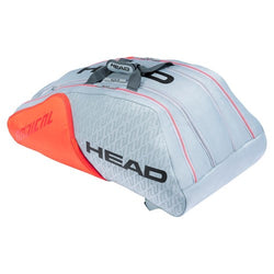 Head Radical Monstercombi 12pk Tennis Bag Grey and Orange