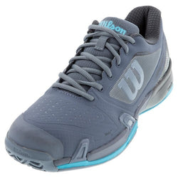 Wilson Men's Rush Pro 2.5 Tennis Shoes Flint Ebony and Ultra Blue