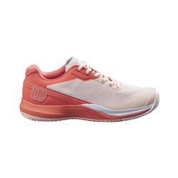 Wilson Women's Rush Pro 3.5 Tennis Shoes Tropical Peach and Hot Coral