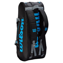 Wilson Ultra 9 Pack Tennis Bag Black and Blue