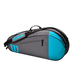 Wilson Team 3 Pack Tennis Bag Blue and Grey