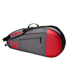 Wilson Team 3 Pack Tennis Bag Red and Grey