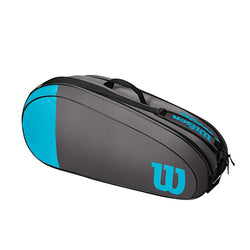Wilson Team 6 Pack Tennis Bag Blue and Grey