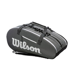 Wilson Super Tour 3 Compartment Black/White Tennis Bag