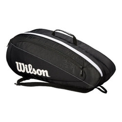 Wilson Fed Team 6 Pack Racquet Bag Black/White