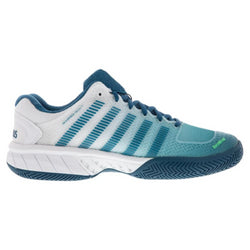 K-Swiss Men's Hypercourt Express Tennis Shoes White and Corsair