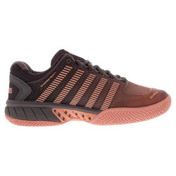 K- Swiss Women's Hypercourt Express Tennis Shoes Plum Kitten and Coral Almond