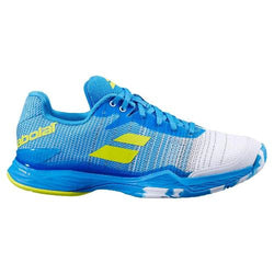 Babolat Men's Jet Mach II A/C Tennis Shoes Malibu Blue and Yellow