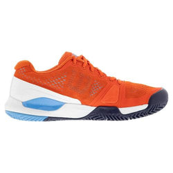 Wilson Men's Rush Pro 3.0 Tennis Shoes Tangerine Tango and Bonnie Blue