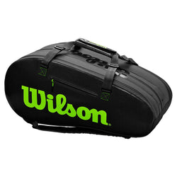 Wilson Super Tour 3 Compartment Bag Black and Green