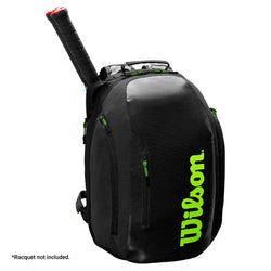 Wilson Super Tour Backpack Bag Black and Green