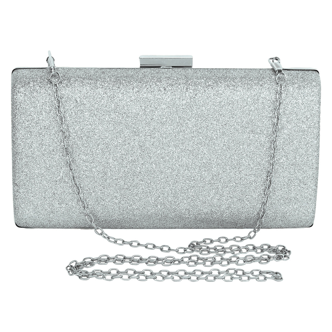 Shimmer clutch (Silver)