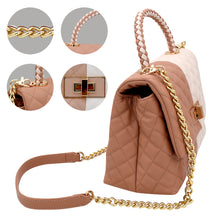 Load image into Gallery viewer, Beige and White Handbag