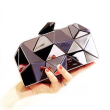 Load image into Gallery viewer, Metallic clutch in Black