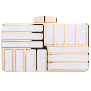 Stripped Marble Clutch (3 colours)