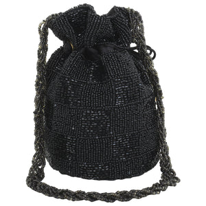Beaded Potli (Black)