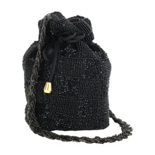 Load image into Gallery viewer, Beaded Potli (Black)