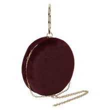 Load image into Gallery viewer, Round Fur Wristlet (Maroon)