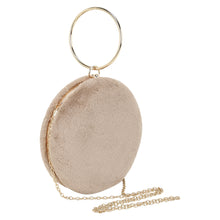 Load image into Gallery viewer, Round Fur Wristlet (Beige)