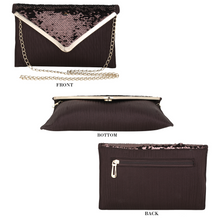 Load image into Gallery viewer, Marie sequence envelope clutch