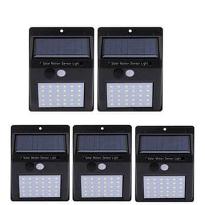 Solar Powered LED Motion Sensor Security Wall Light