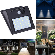 Load image into Gallery viewer, Solar Powered LED Motion Sensor Security Wall Light