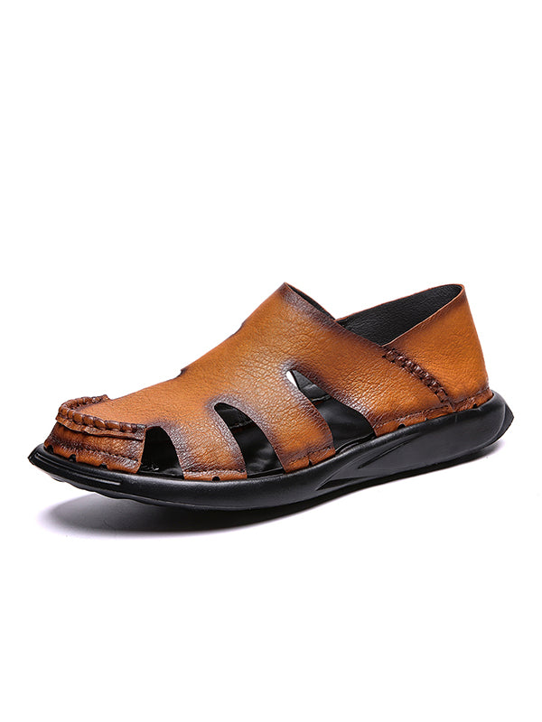 2019 New Soft Cow Leather Breathable Sandals