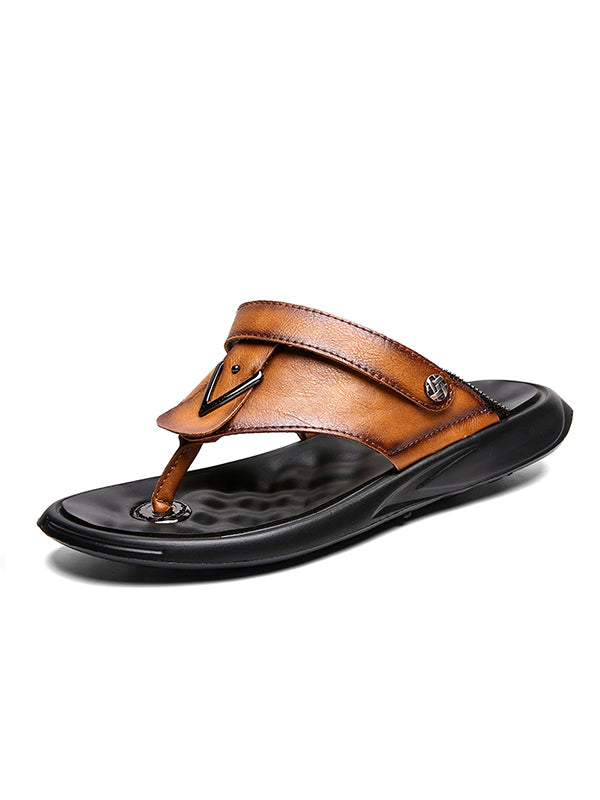 2019 Handmade Casual Leather Sandals And Slippers