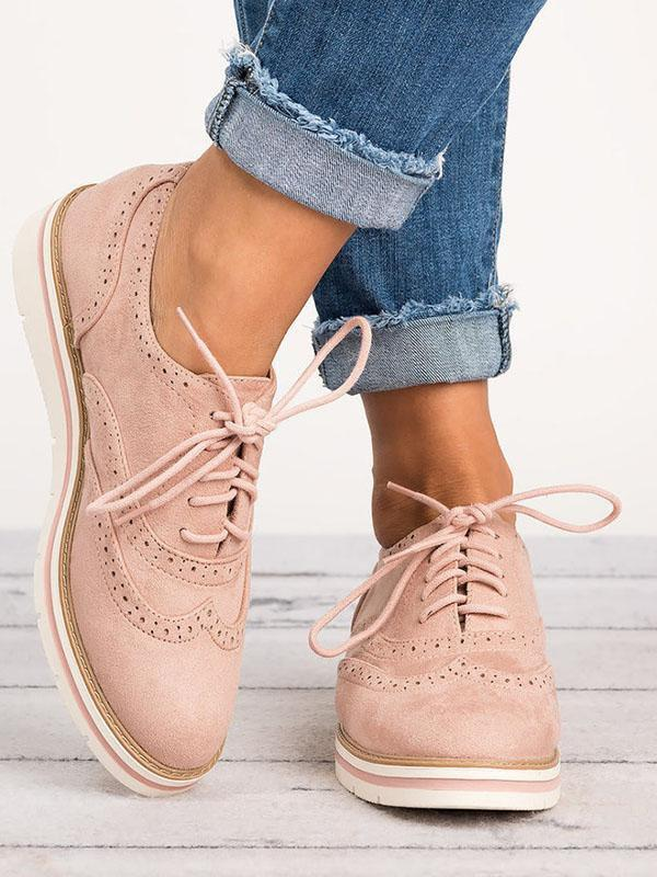 Light Bubble Bottom Bullock Casual Lace Up Shoes