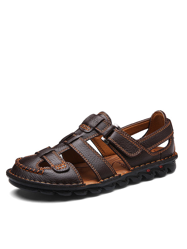Cowhide Non-Slip Soft Sole Beach Sandals