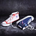 2019 New Spiderman Venom Hand-Painted Graffiti Casual Shoes