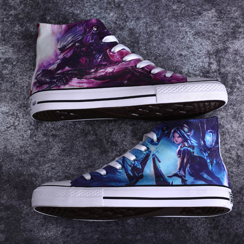 2019 New League of Legends LOL Graffiti Hand-Painted Shoes