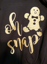 Oh Snap! Gingerbread Sparkly Glitter Tee