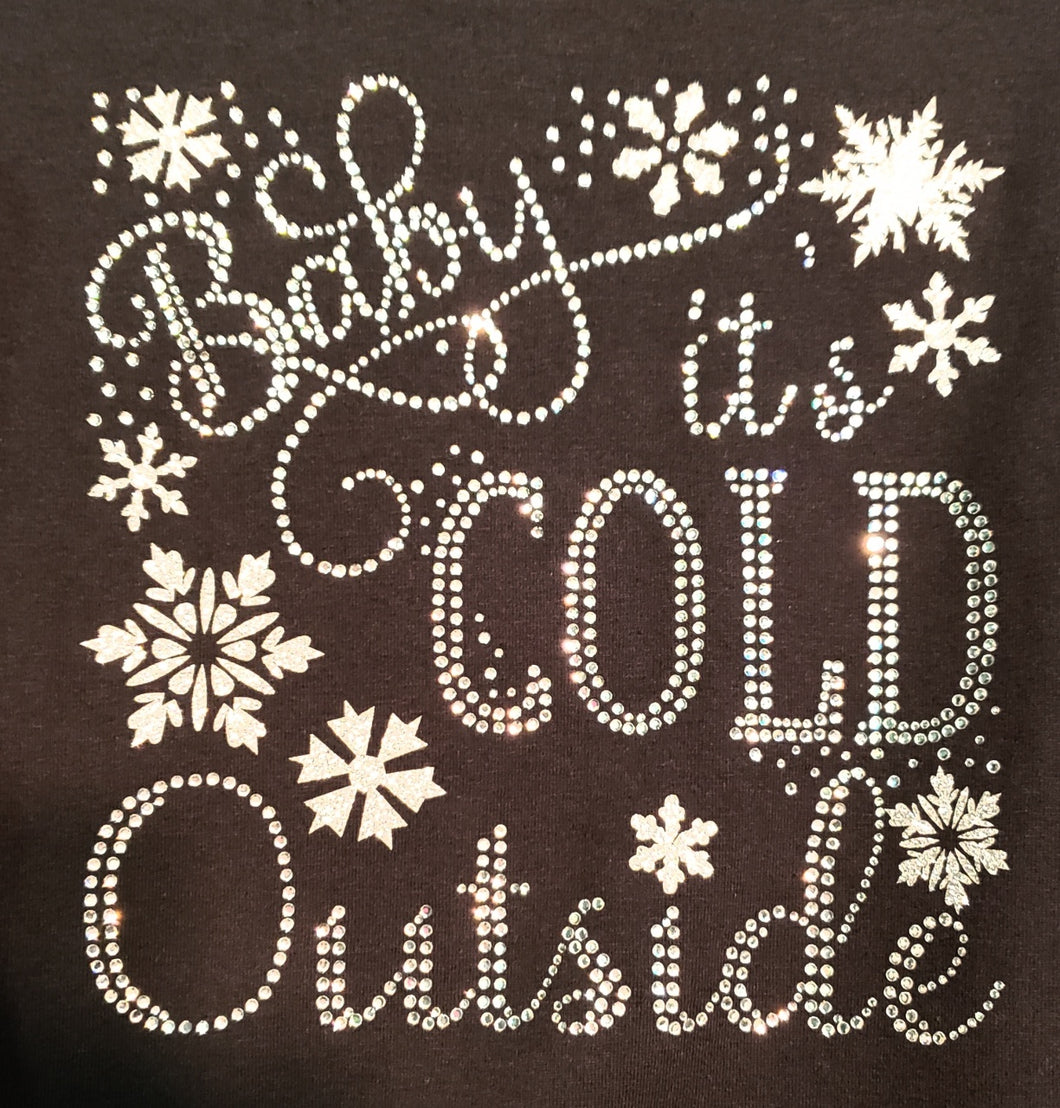 Baby It's Cold Outside Rhinestone Tee