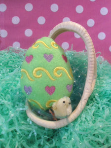 Easter Egg Stuffie Plushie Embroidered toy