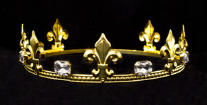 "Prince Round Crown Gold 2"" tall"