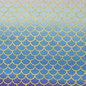 Mermaid Scales shades of blue face mask