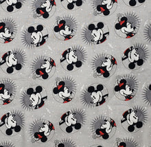 Mickey & Minnie Mouse on grey