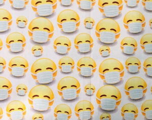 Masked Emoji on white