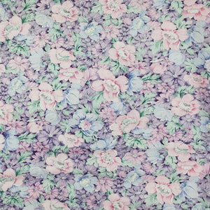 Pastel Pink Mint Purple Blue Flowers