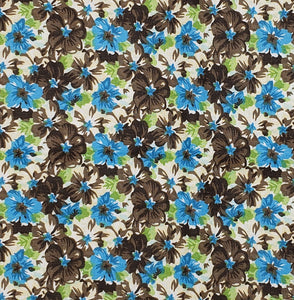 Turquoise & Brown Flowers