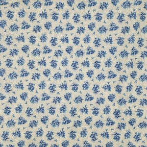 Blue flowers on ivory