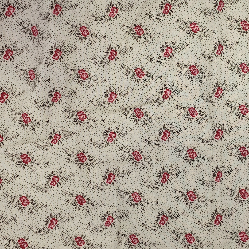 Pink flowers on ivory