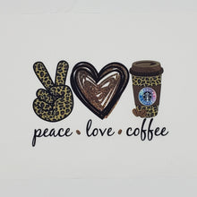 Peace Love Coffee Starbucks custom print cotton blend face mask