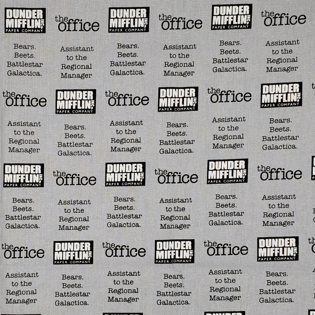 The Office Dunder Mifflin TV custom fabric face mask