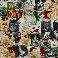 Christmas Kittens Kitty cats on ivory