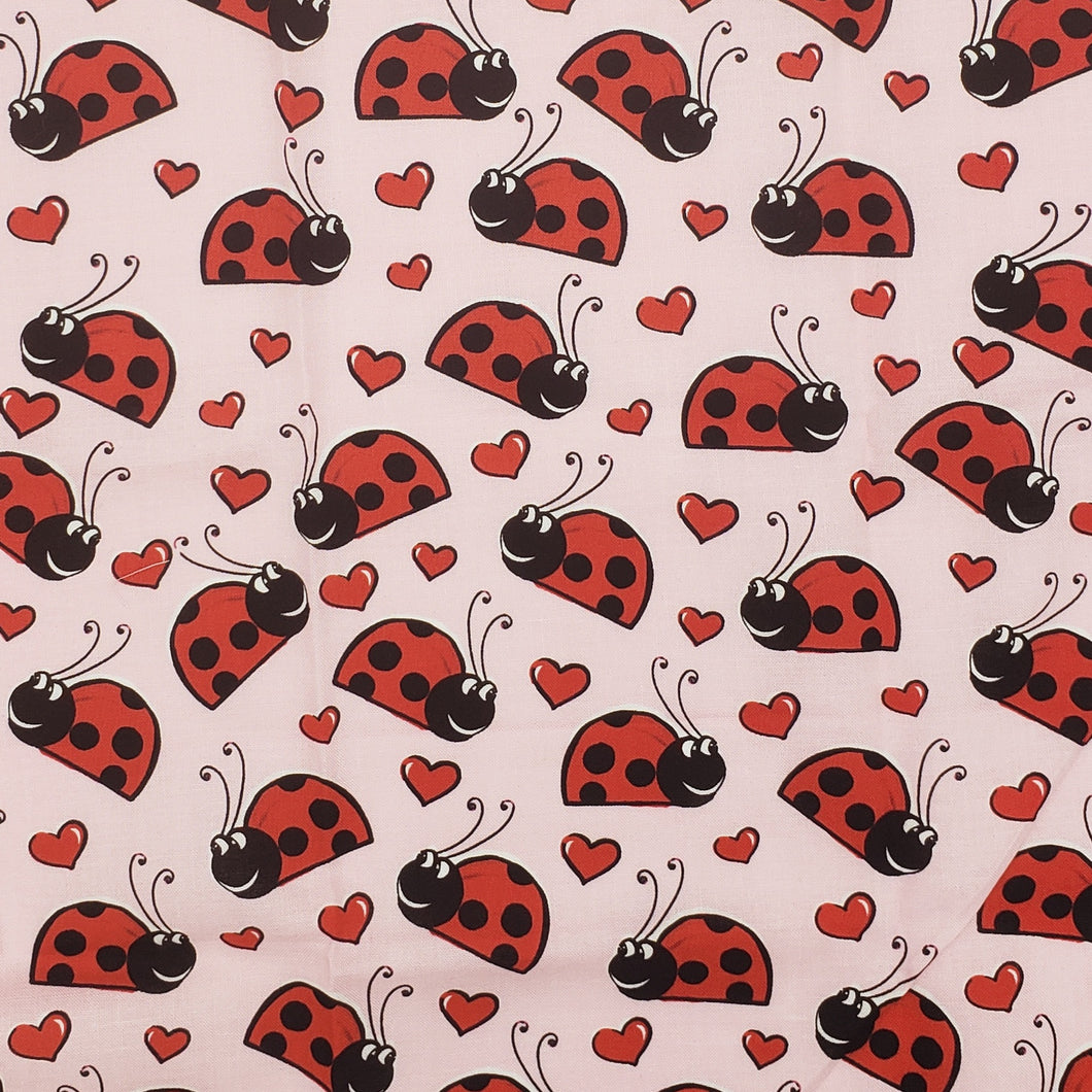 Lady bugs and Hearts face mask