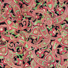 Red Green Black paisley