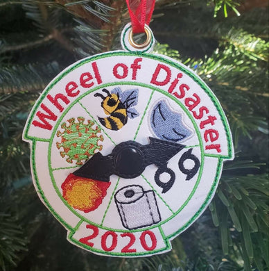 2020 Ornament Disaster Wheel Embroidered