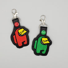 Among Us Crewmate Keyfobs Keychain Zipper Pulls